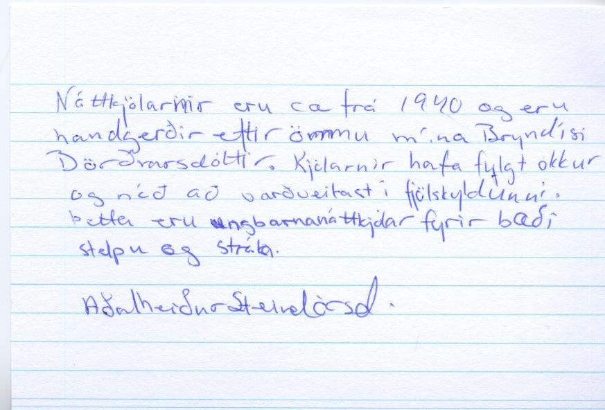 Náttkjólar eftir Bryndísi Böðvarsdóttur